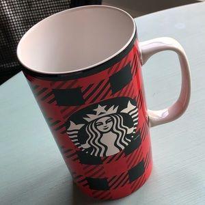 Starbucks red black buffalo plaid mug ☕️ coffee